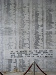 Names of soldiers who died on USS Arizona